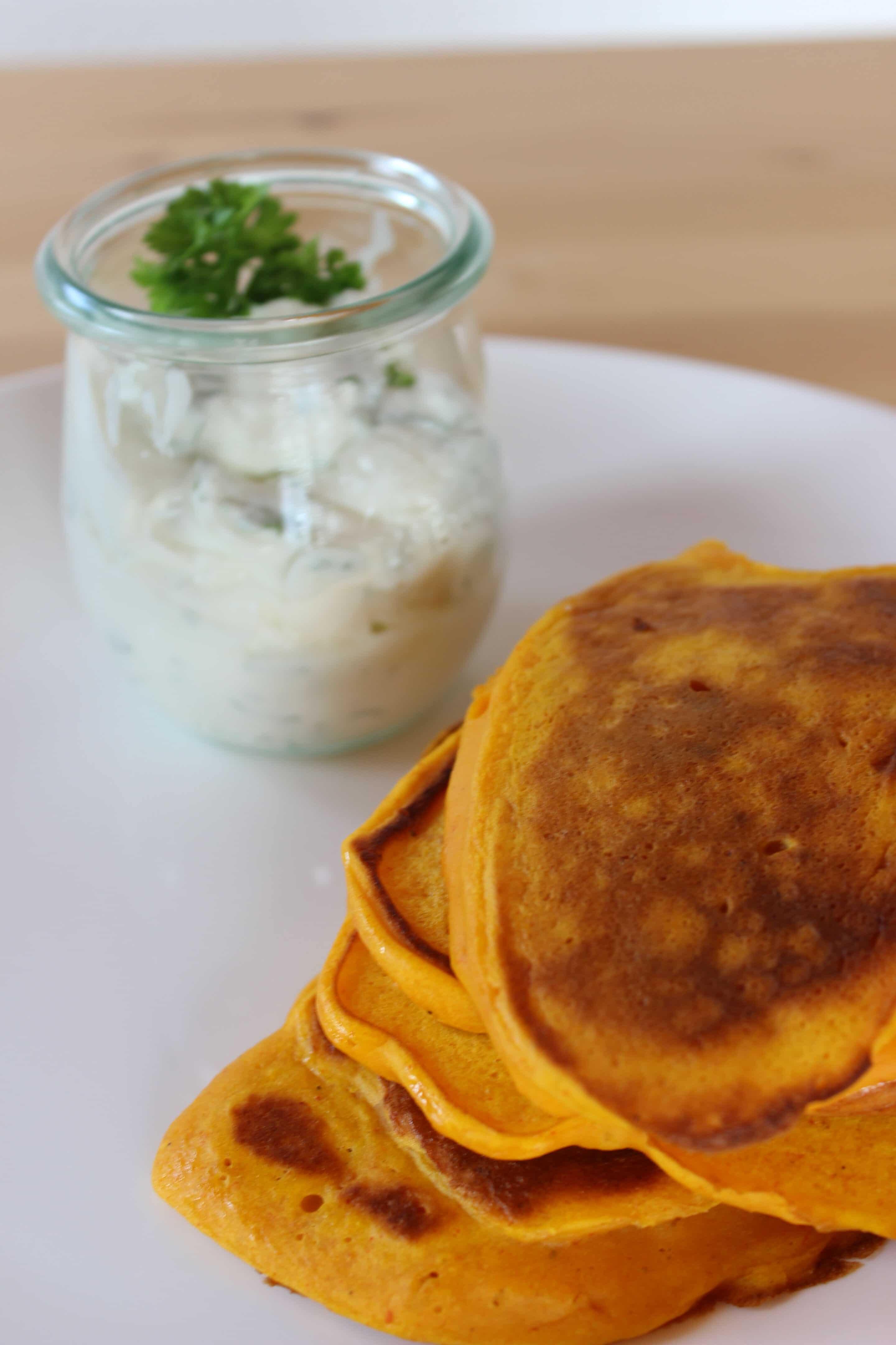 Kürbis-Pancakes oder doch Kürbis-Kartoffel-Pfannkuchen