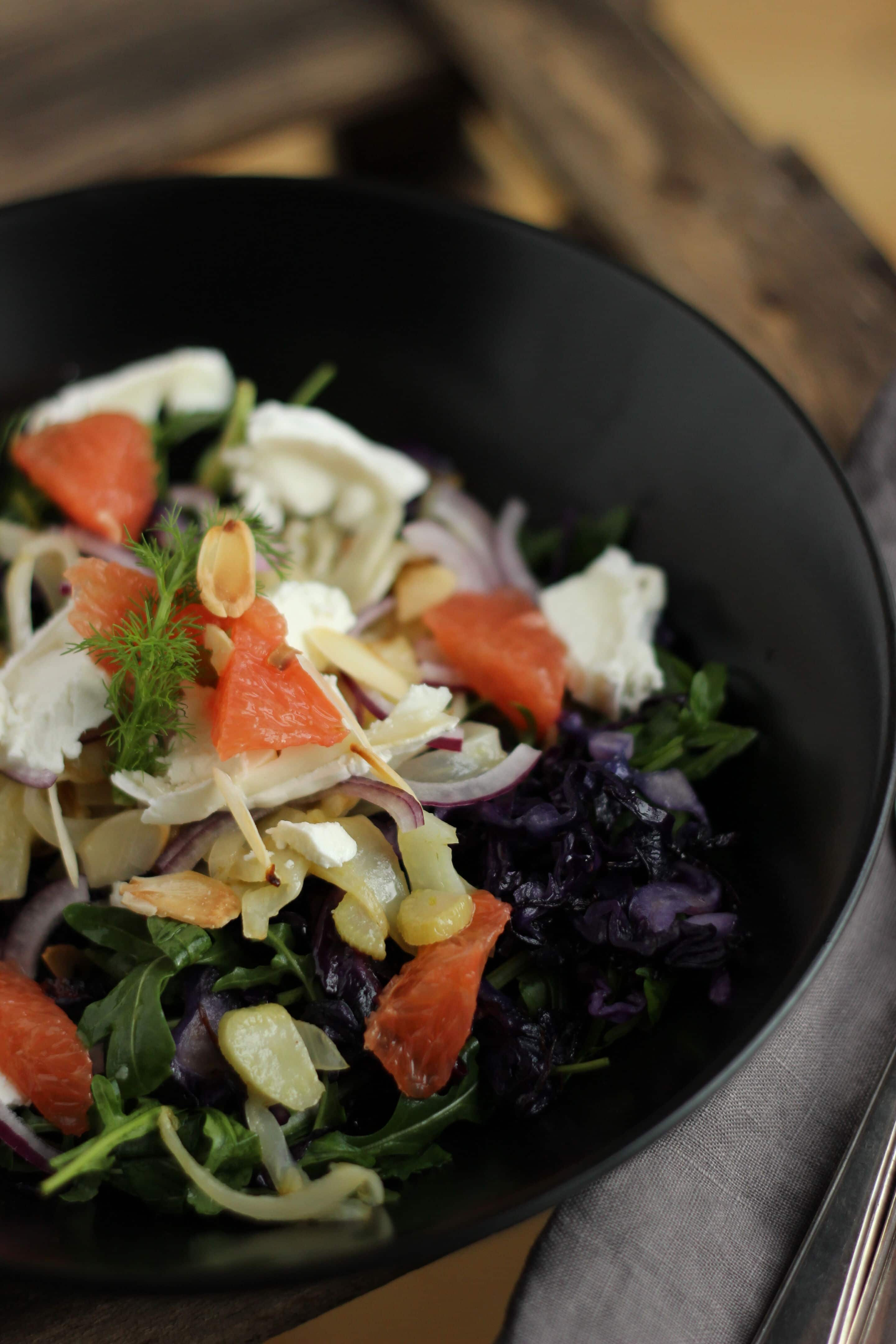 Rotkraut-Fenchel-Salat mit Ziegenkäse oder Hanni ist zurück