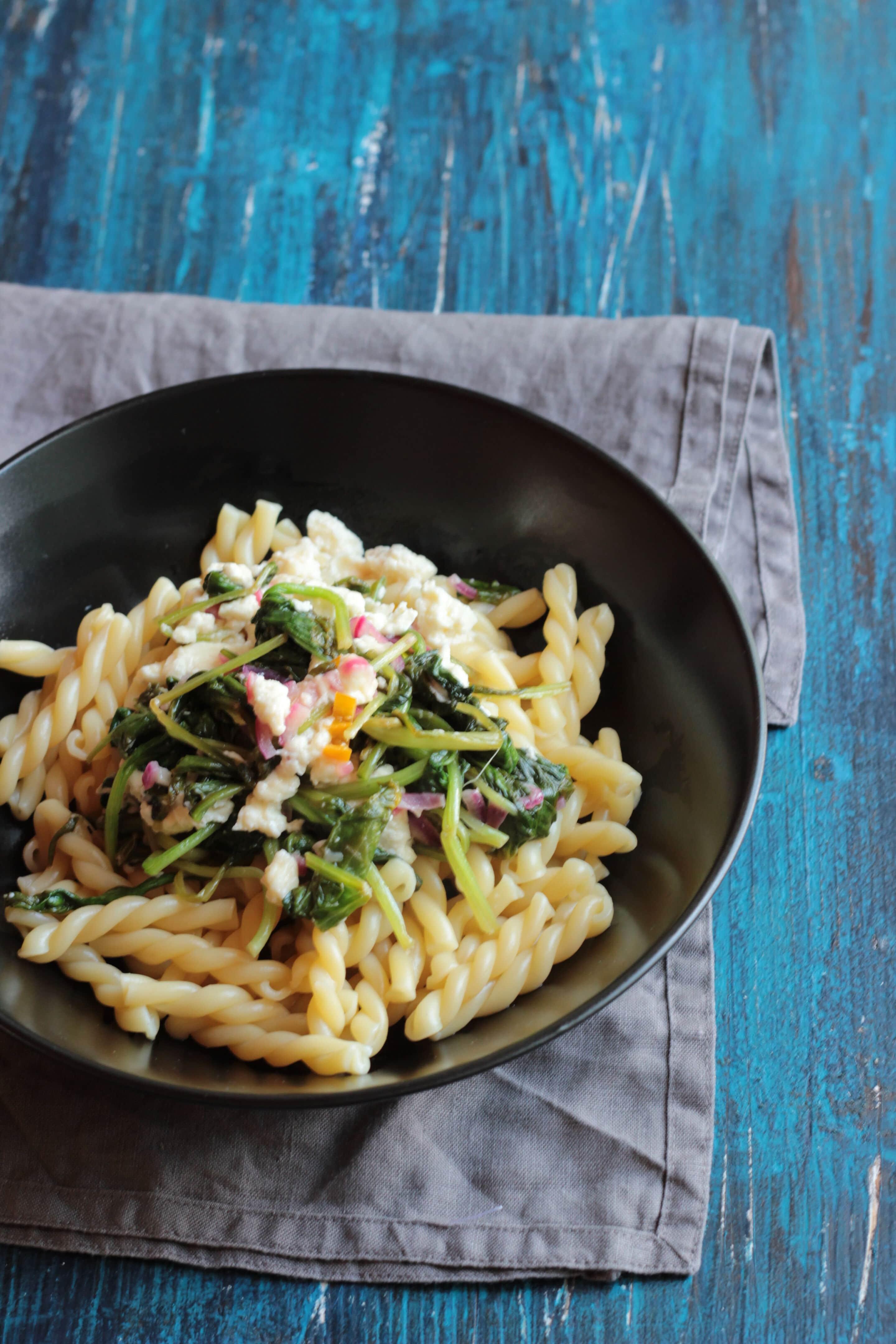 Pasta mit frischem Babyspinat oder #pastaforingeborg die Sechste