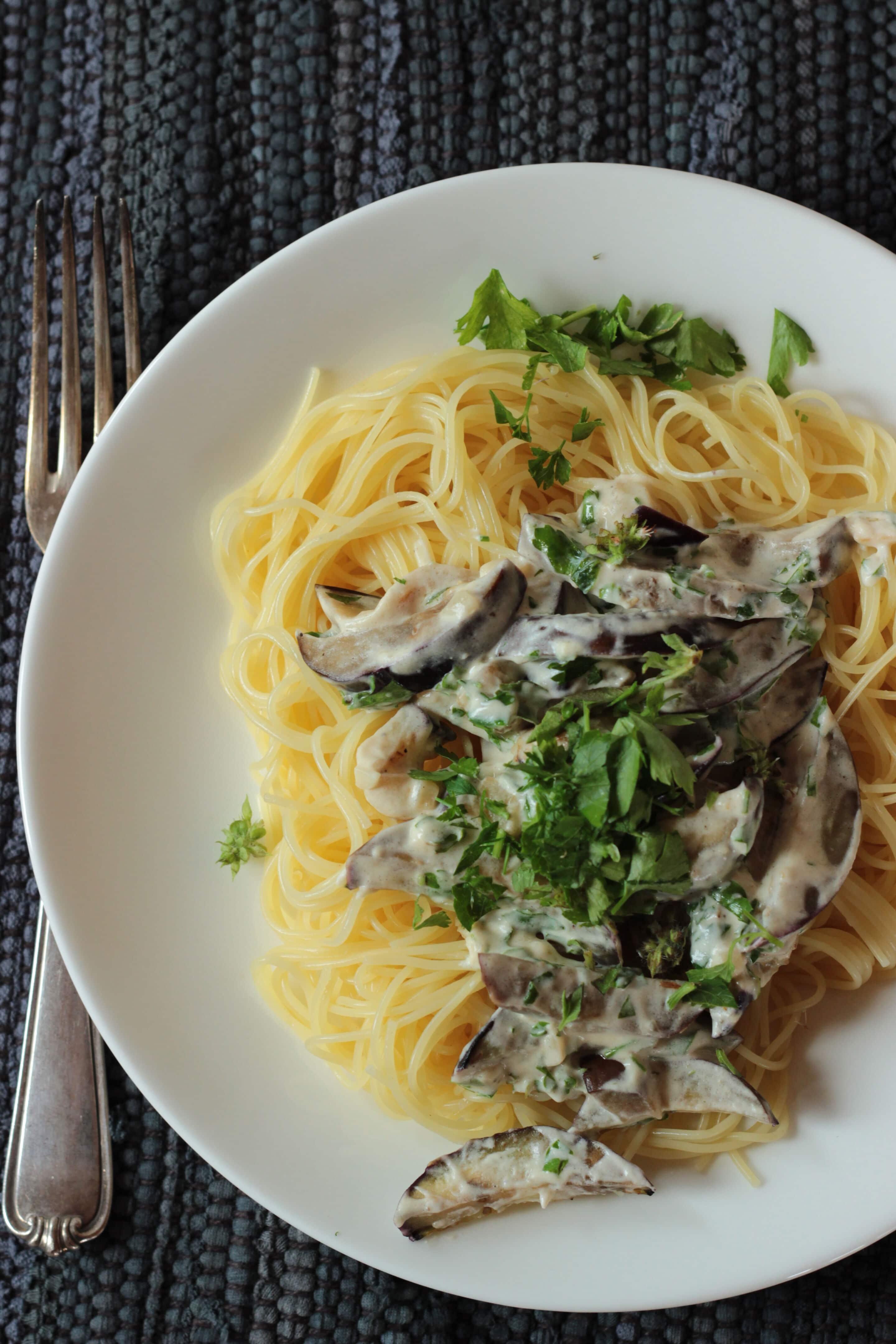 Frische Auberginen-Pasta oder 15-Minuten #pastaforingeborg