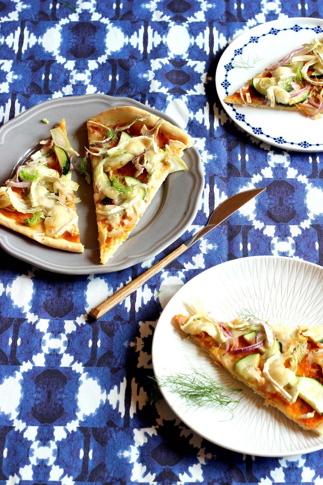 Fenchel-Pizza mit Ziegenkäse oder Rezepte aus dem Saisongarten Teil 2