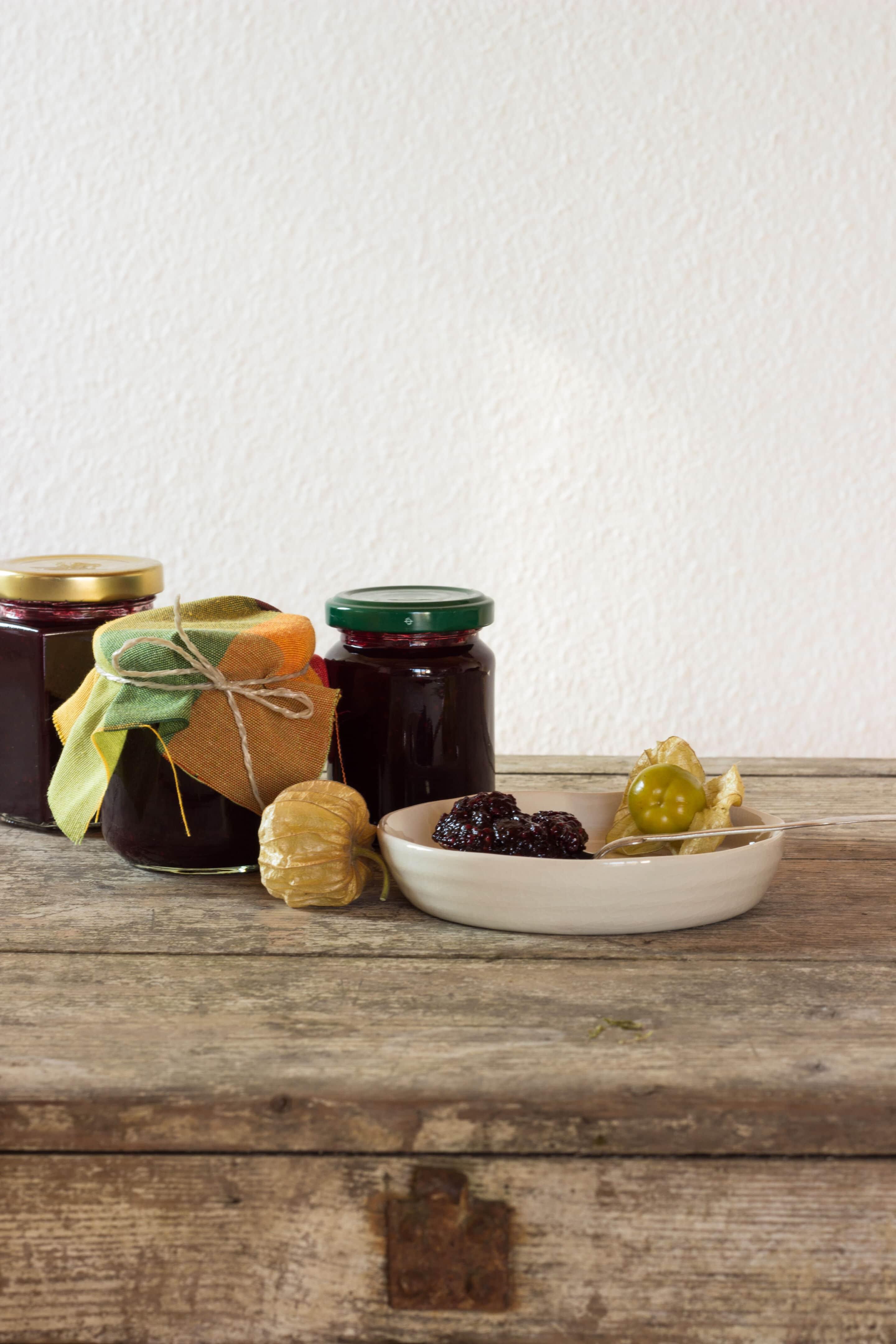 Brombeer-Physalis-Marmelade mit Vanille oder Rezepte aus dem Saisongarten Teil 7